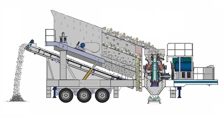 mobile screening plant